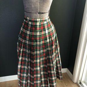 VTG Pendleton women's plaid midi pleated skirt 12